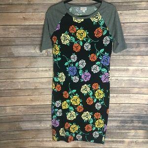LuLaRoe Julia Dress Size Small Roses w/Thorns